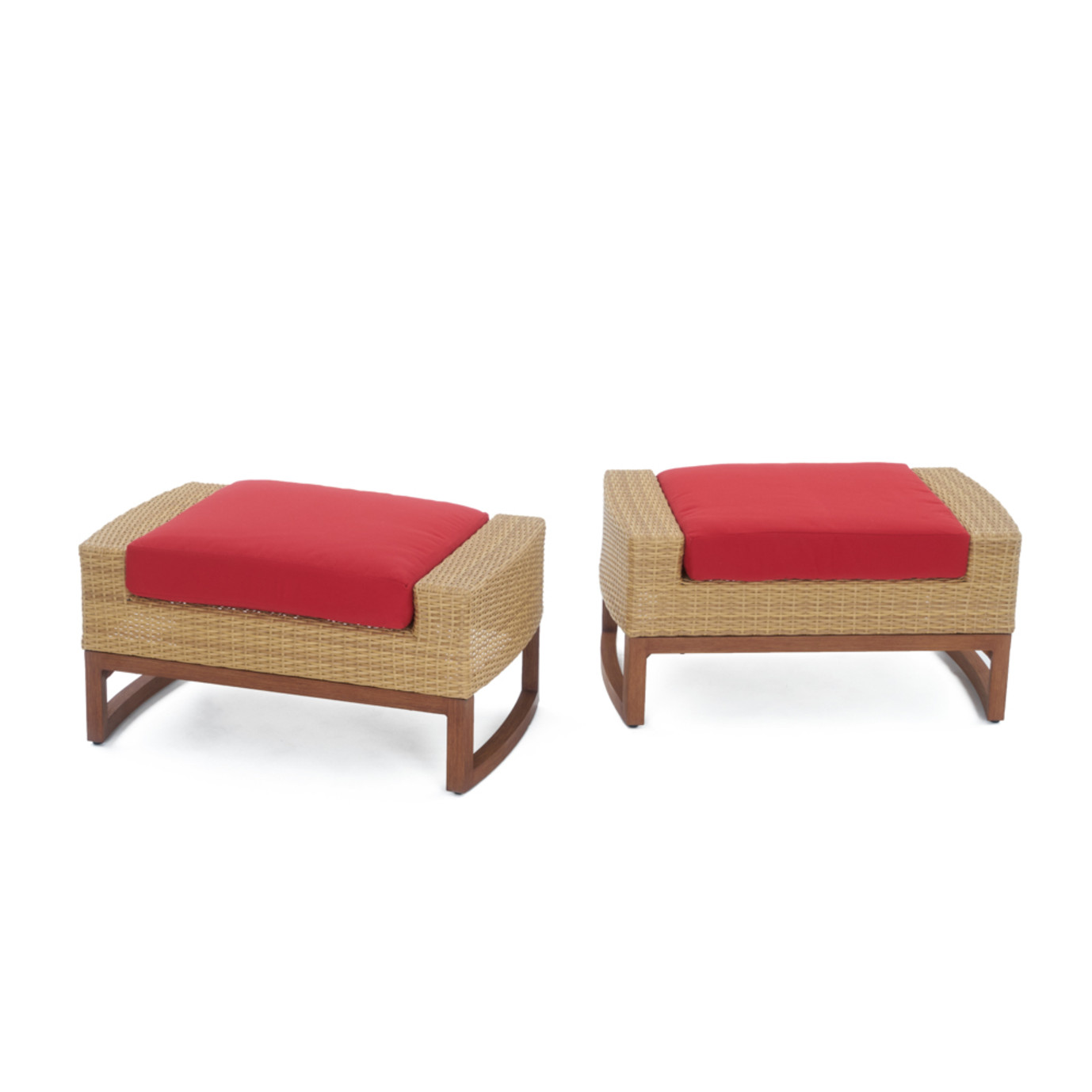 Mili™ 5 Piece Club Chair & Ottoman Set - Sunset Red