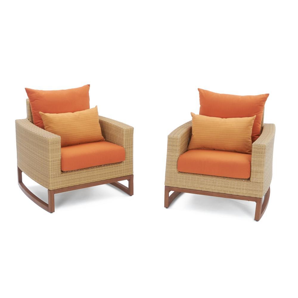 ... Mili™ 5pc Club Chair U0026 Ottoman Set   Tikka Orange ...