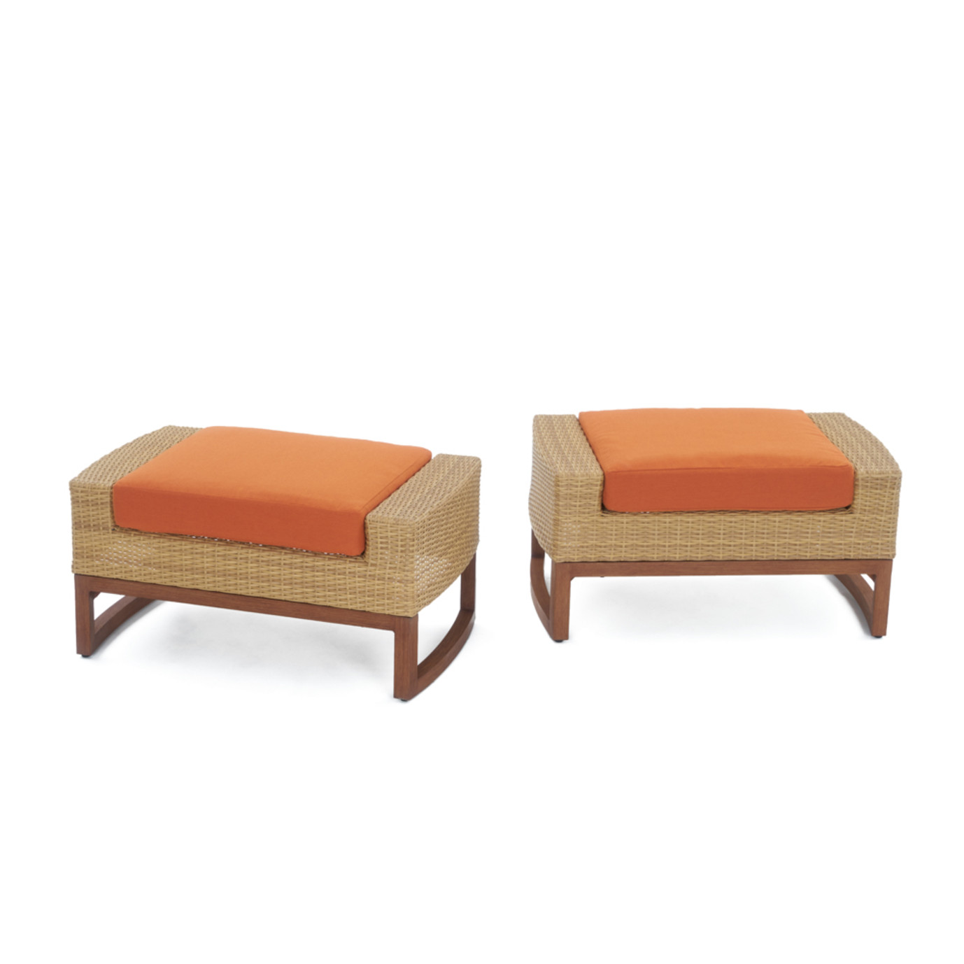 Mili™ 5pc Club Chair & Ottoman Set - Tikka Orange