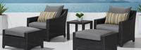 Deco™ 5 Piece Club Chair and Ottoman Set - Moroccan Cream