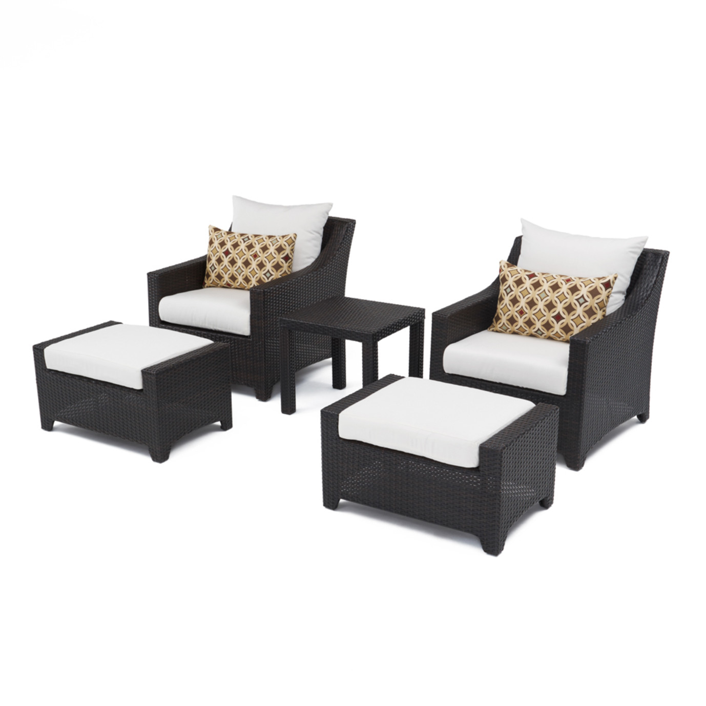 Deco™ 5 Piece Club Chair and Ottoman Set - Moroccan Cream