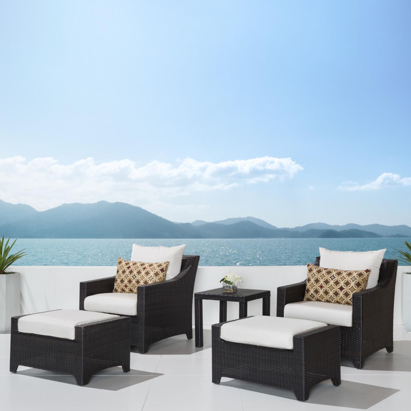 Deco™ 5pc Club Chair and Ottoman Set - Moroccan Cream