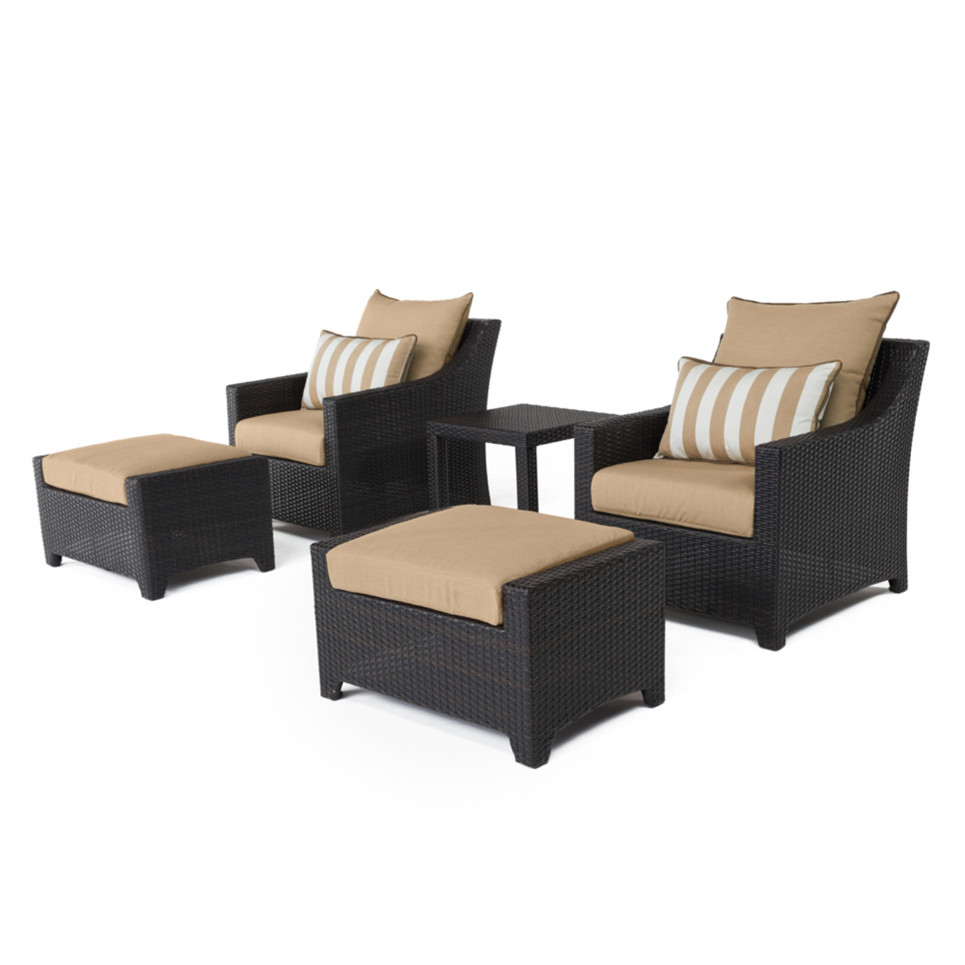 Deco™ 5 Piece Club Chair & Ottoman Set - Maxim Beige
