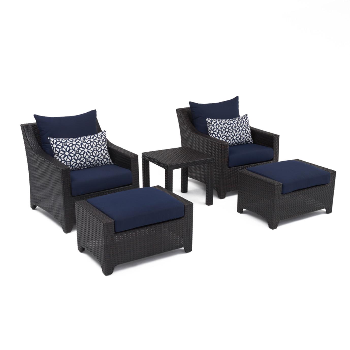 Deco™ 5 Piece Club Chair and Ottoman Set