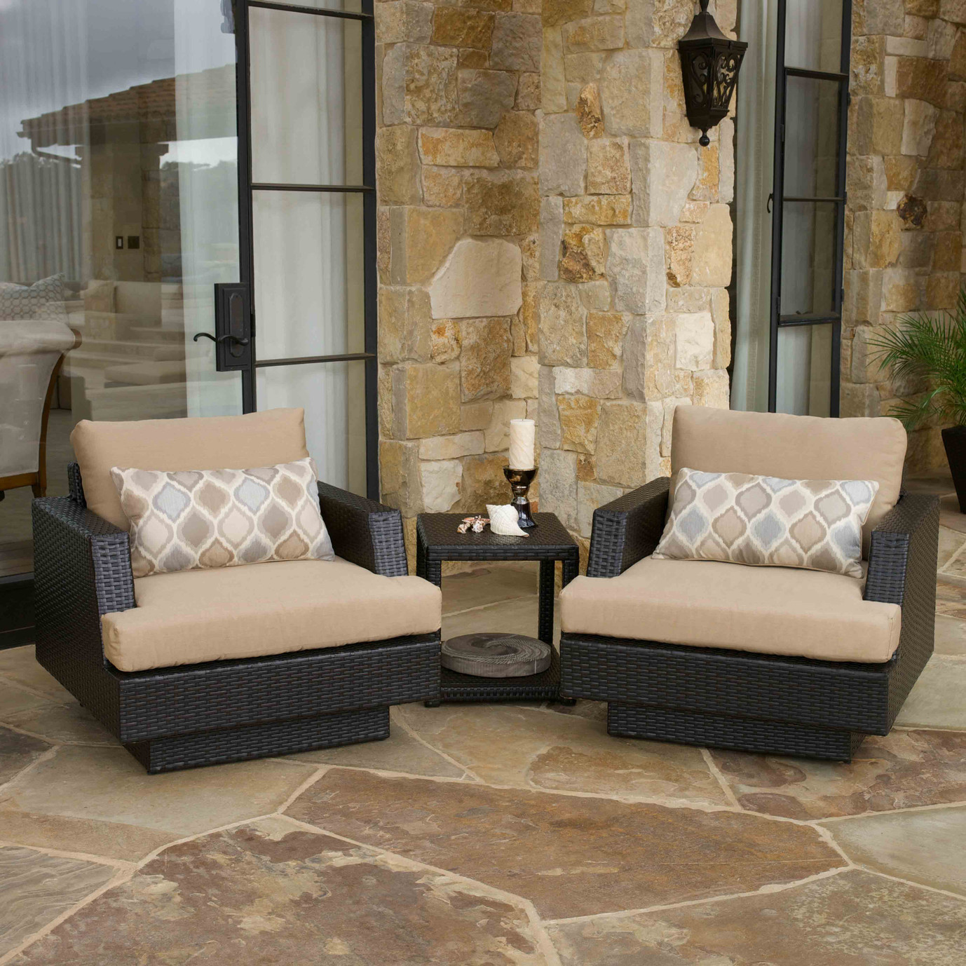 Portofino™ Comfort 5pc Club Chair Set - Heather Beige