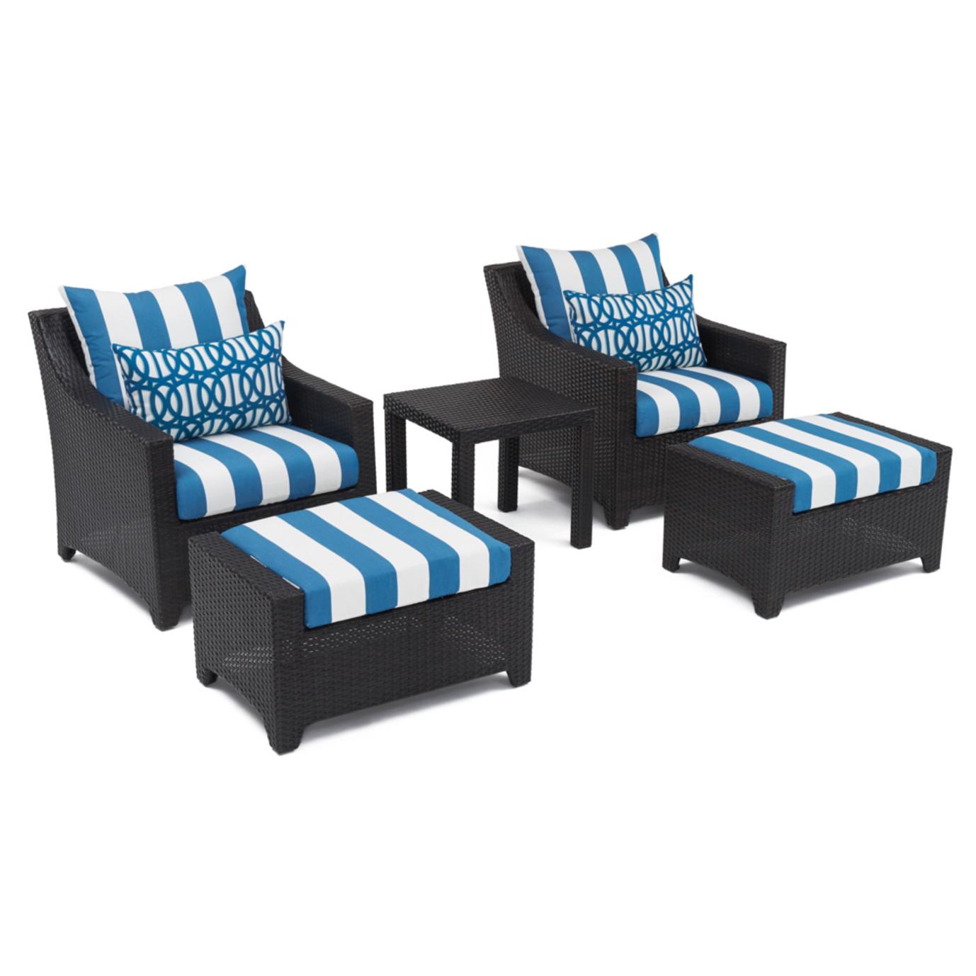 Deco™ 5pc Club Chair and Ottoman Set - Regatta Blue