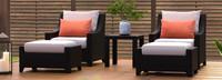 Deco™ 5 Piece Club Chair and Ottoman Set - Tikka Orange