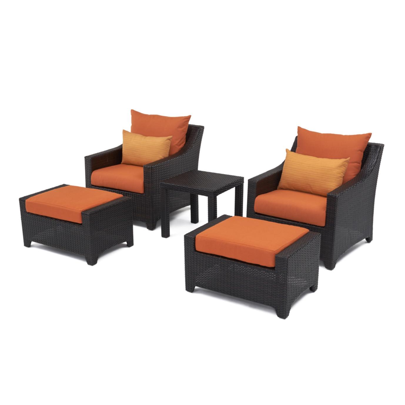 Deco™ 5pc Club Chair and Ottoman Set - Tikka Orange