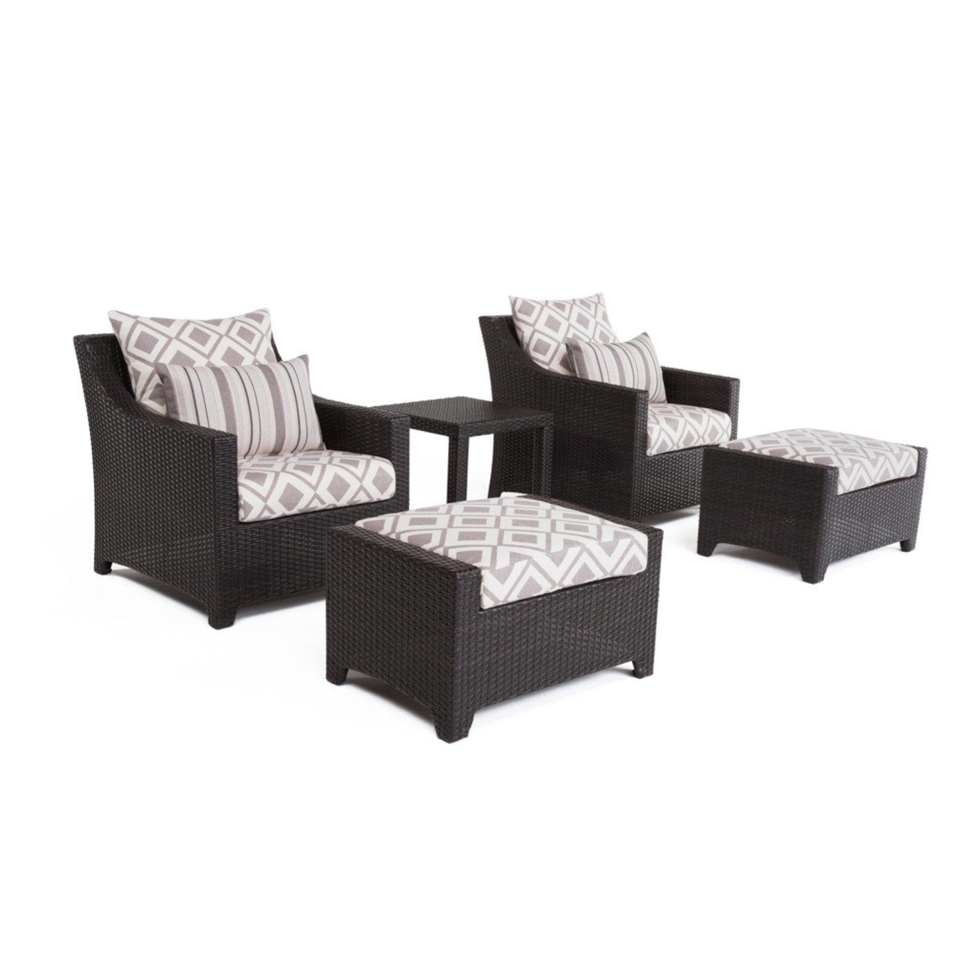 Deco™ 5pc Club Chair & Ottoman Set - Wisteria Lavender