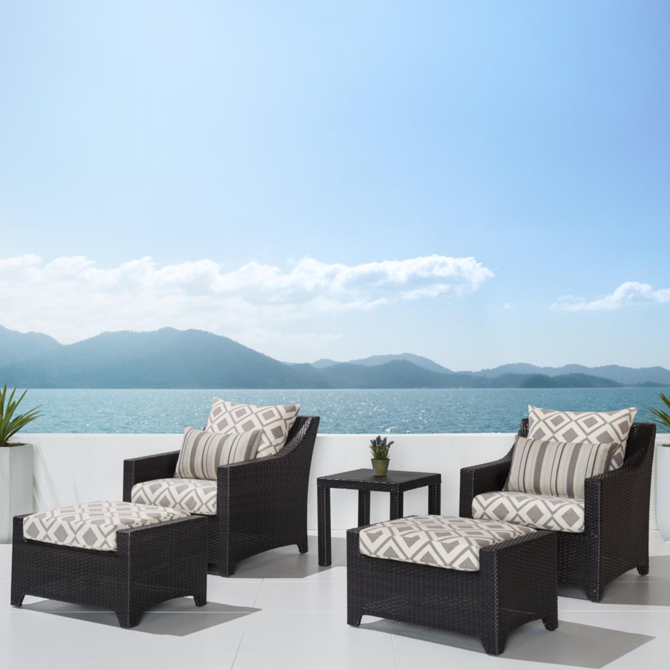 Deco™ 5pc Club Chair & Ottoman Set - Wisteria Lavender