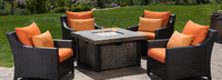 Deco™ 5 Piece Fire Chat Set- Charcoal Gray