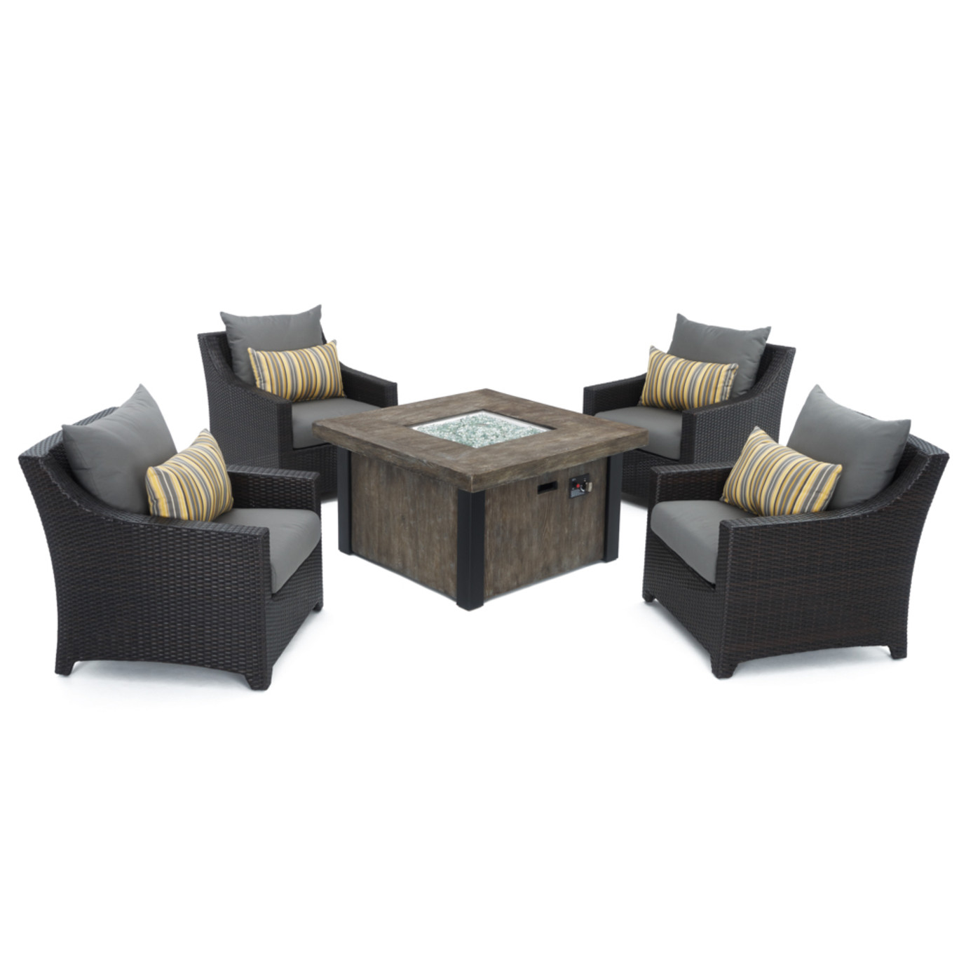 Deco™ 5pc Fire Chat Set- Charcoal Grey