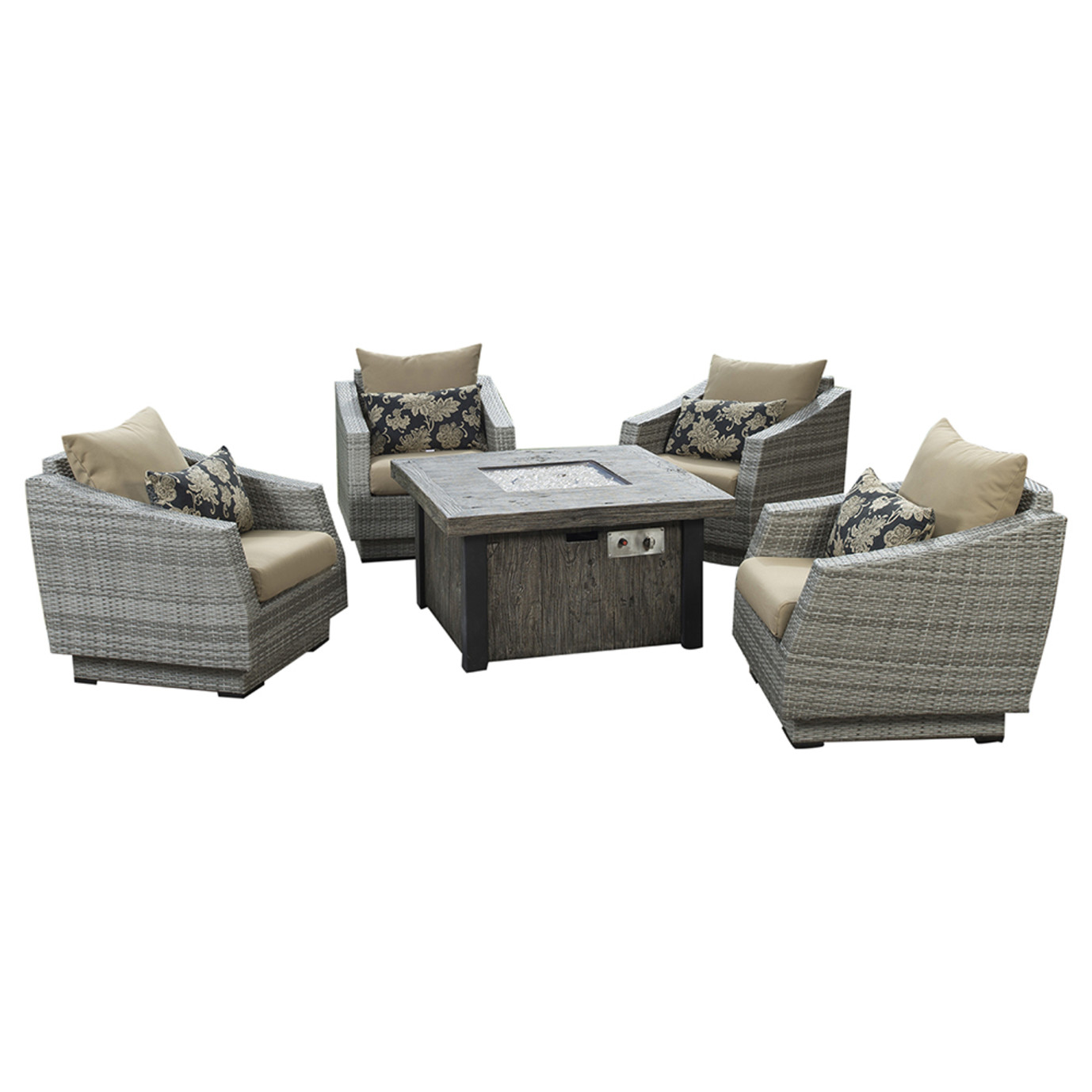 Cannes 5pc Fire Chat Set - Delano Beige