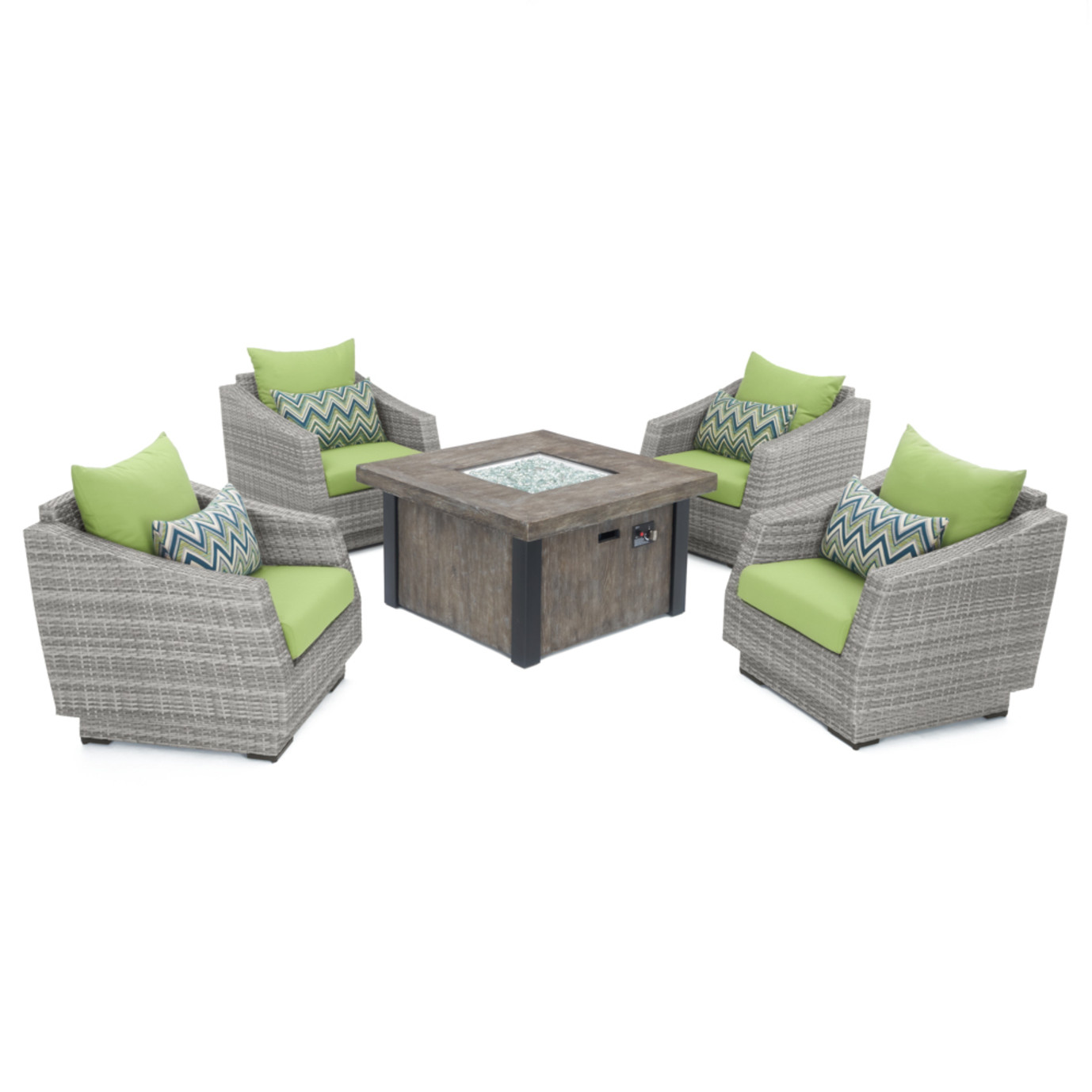 Cannes™ 5 Piece Fire Chat Set - Ginkgo Green