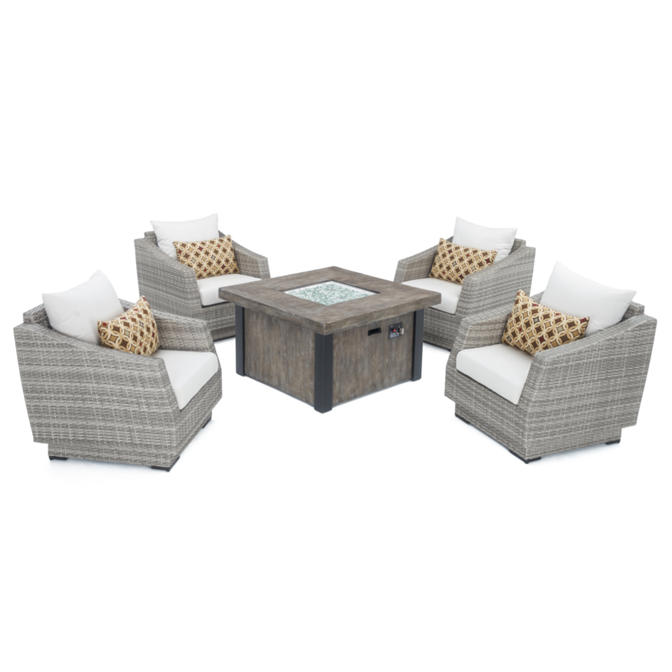 Cannes™ 5 Piece Fire Chat Set - Moroccan Cream