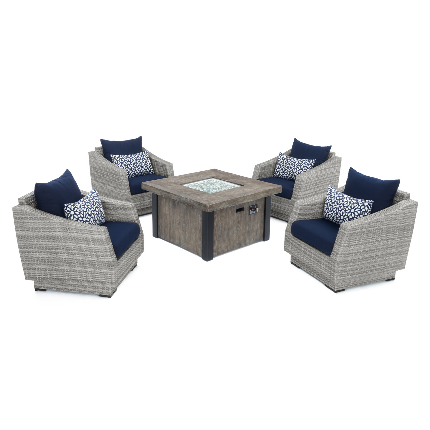 Cannes™ 5pc Fire Chat Set - Navy Blue