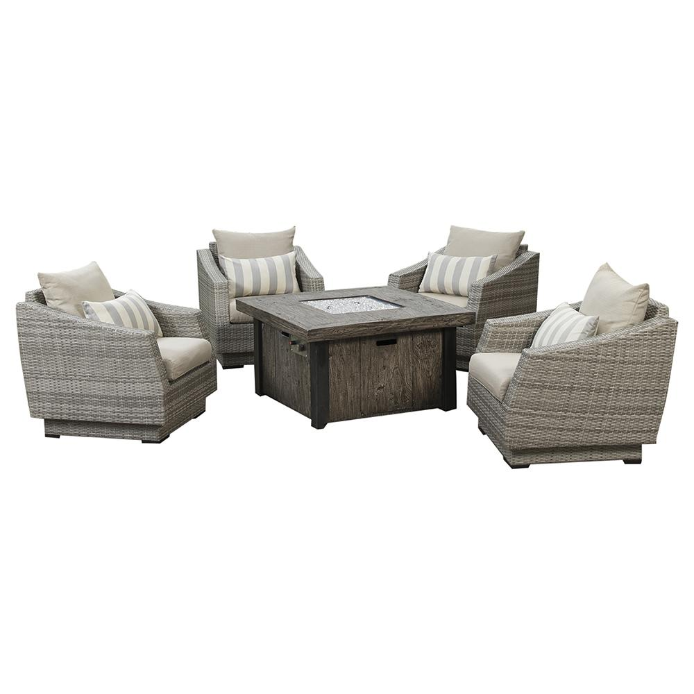 Cannes 5pc Fire Chat Set - Slate Grey