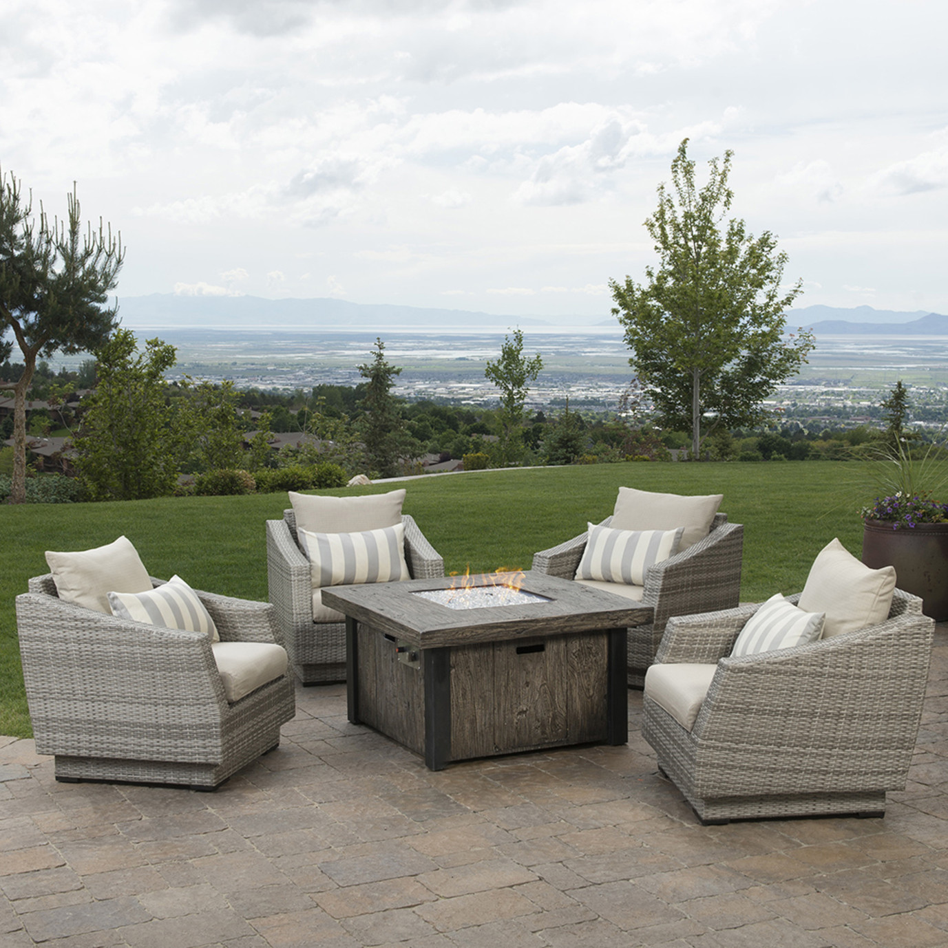 Cannes™ 5pc Fire Chat Set - Slate Gray