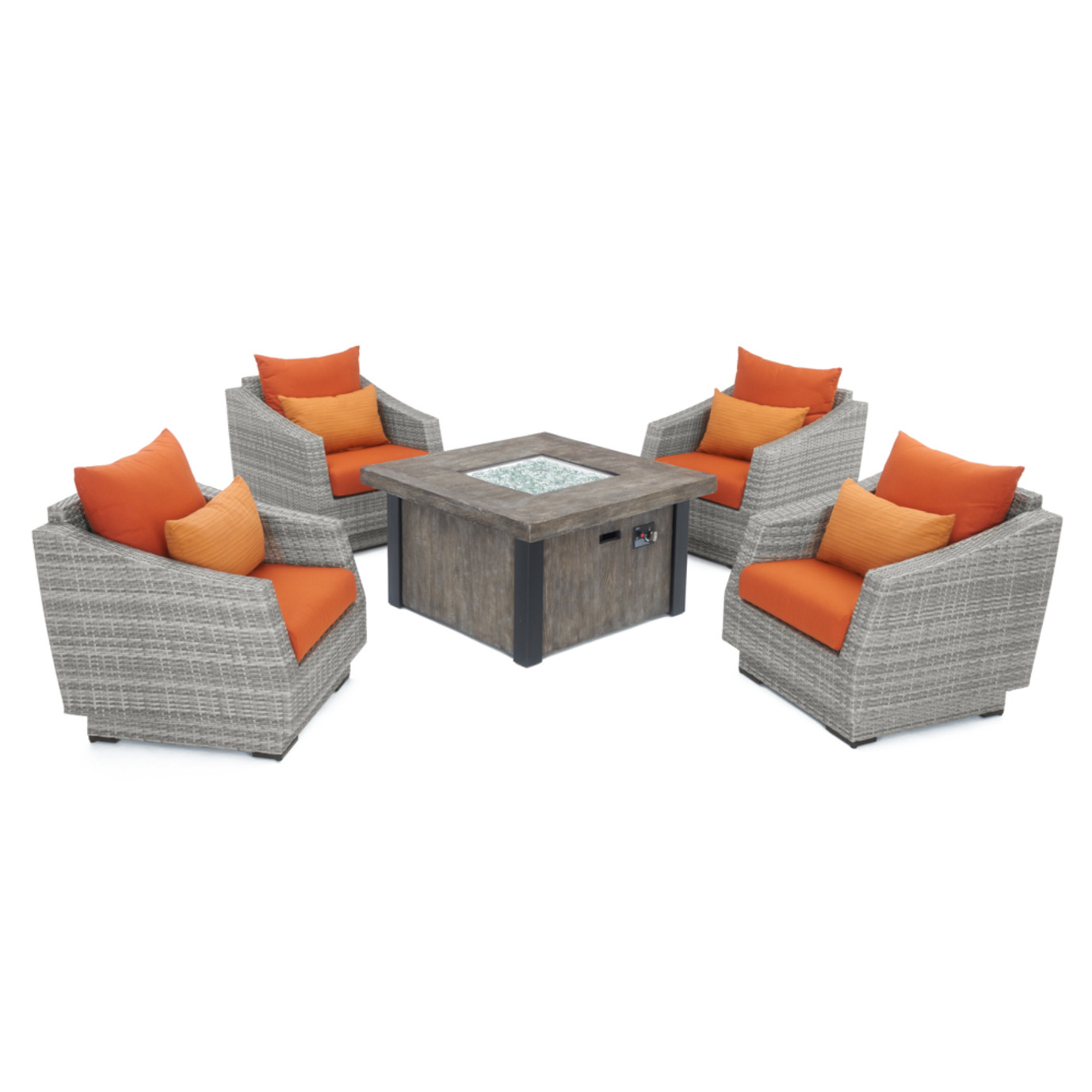 Cannes™ 5pc Fire Chat Set - Tikka Orange