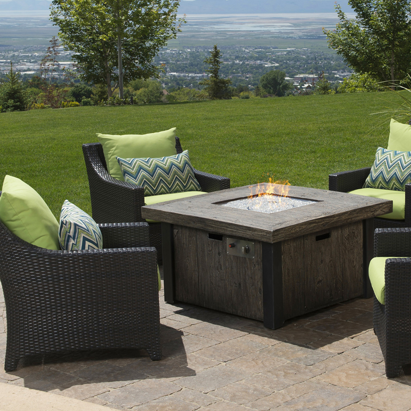 Deco™ 5pc Fire Chat Set- Ginkgo Green