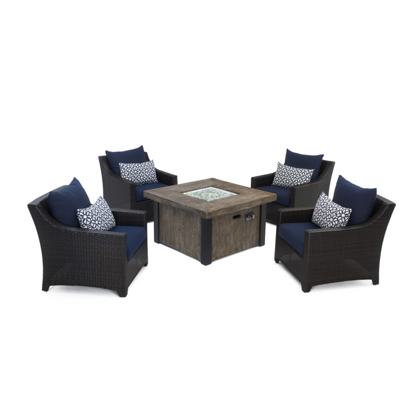 Deco™ 5 Piece Fire Chat Set- Navy Blue
