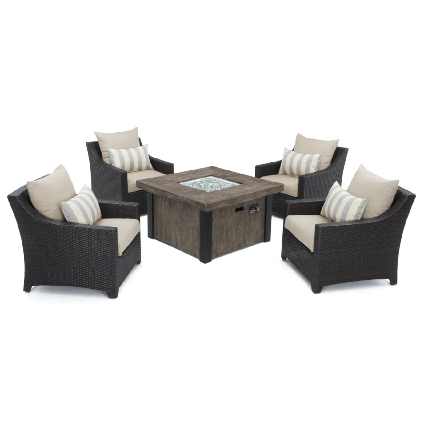 Deco™ 5 Piece Fire Chat Set - Slate Gray