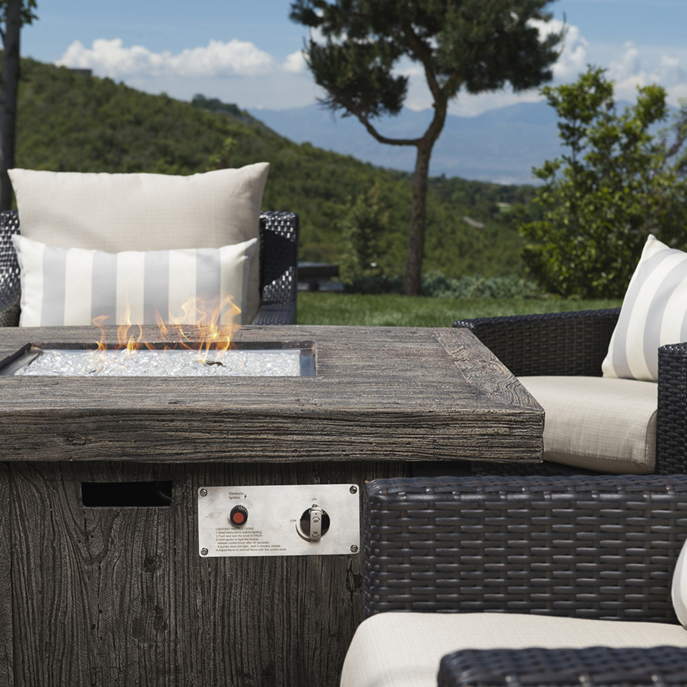 Deco™ 5pc Fire Chat Set - Slate Gray