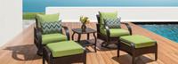 Barcelo™ 5 Piece Motion Club & Ottoman Set - Ginkgo Green