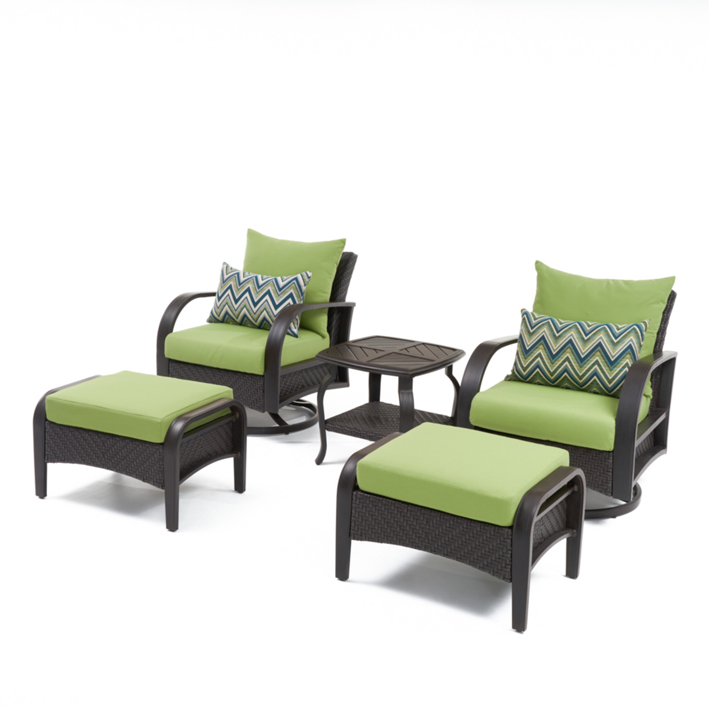 Barcelo™ 5pc Motion Club & Ottoman Set - Ginkgo Green