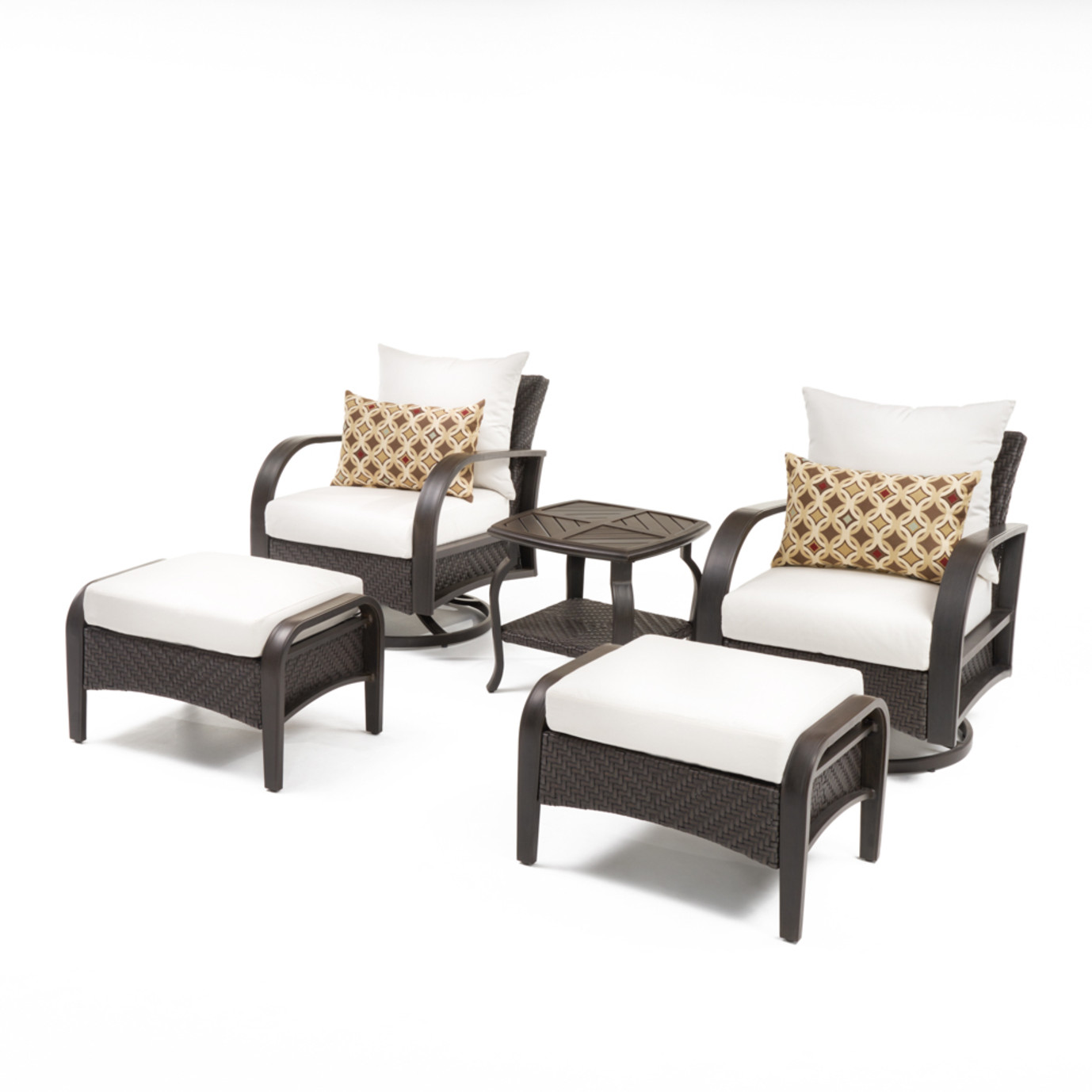 Barcelo™ 5pc Motion Club & Ottoman Set - Moroccan Cream