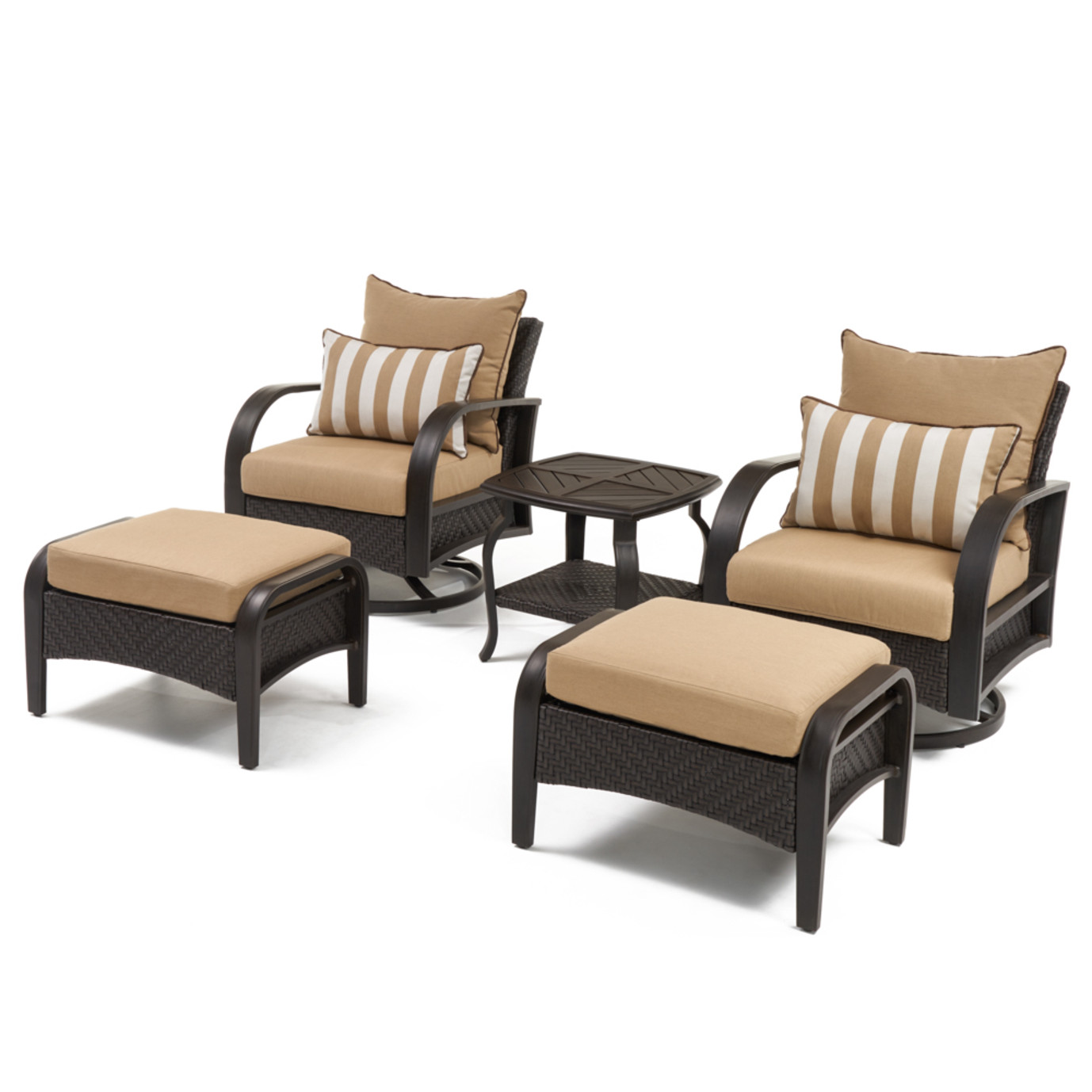 Barcelo™ 5pc Motion Club & Ottoman Set - Maxim Beige