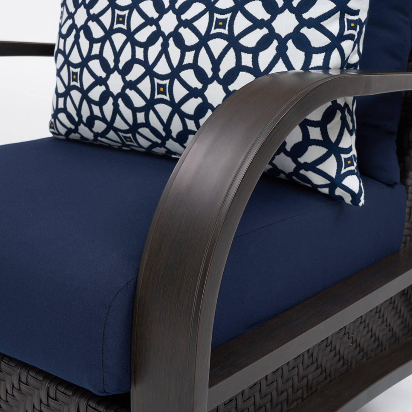 Barcelo™ 5pc Motion Club & Ottoman Set - Navy Blue