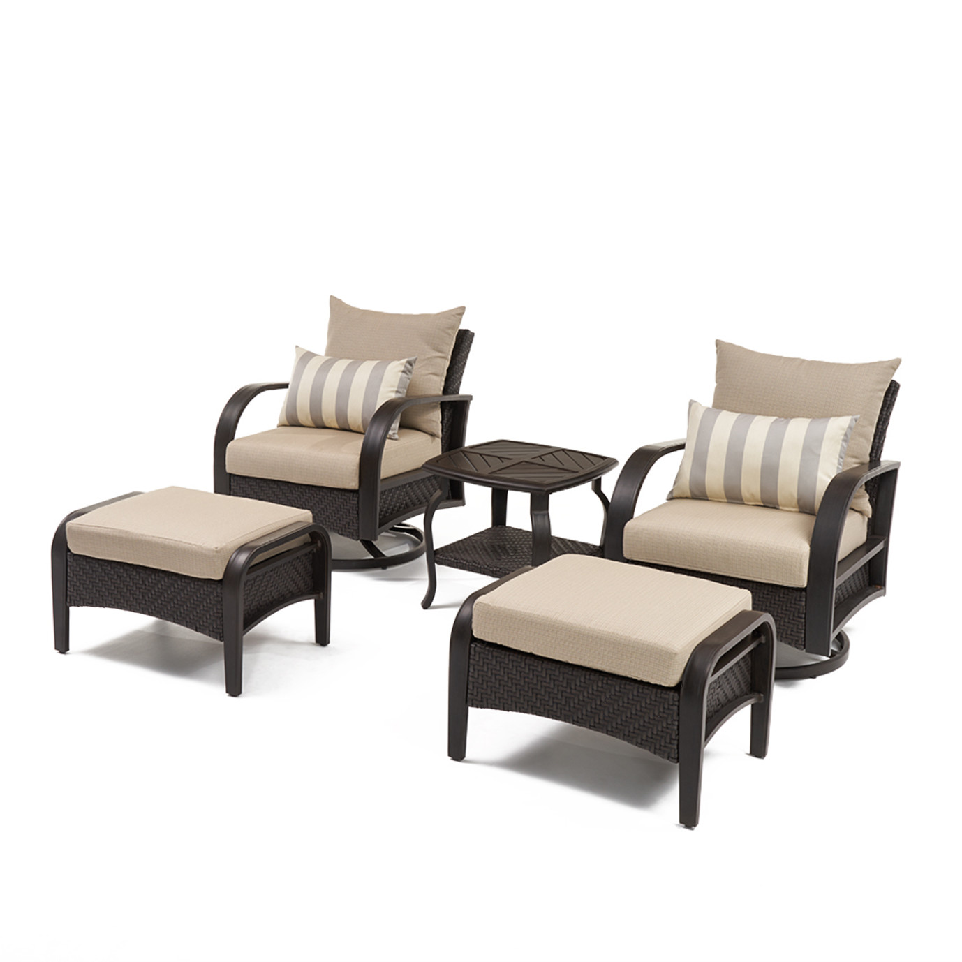 Barcelo™ 5pc Motion Club & Ottoman Set - Slate Gray