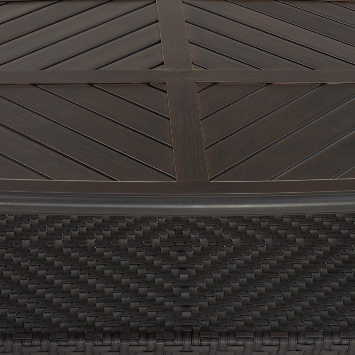 Barcelo™ 5pc Motion Club & Ottoman Set - Slate Gray