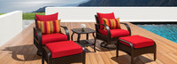 Barcelo™ 5 Piece Motion Club Chair & Ottoman Set - Spa Blue