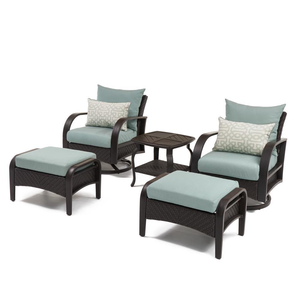 ... Blue; Barcelo™ 5pc Motion Club Chair U0026 Ottoman Set   Spa ...