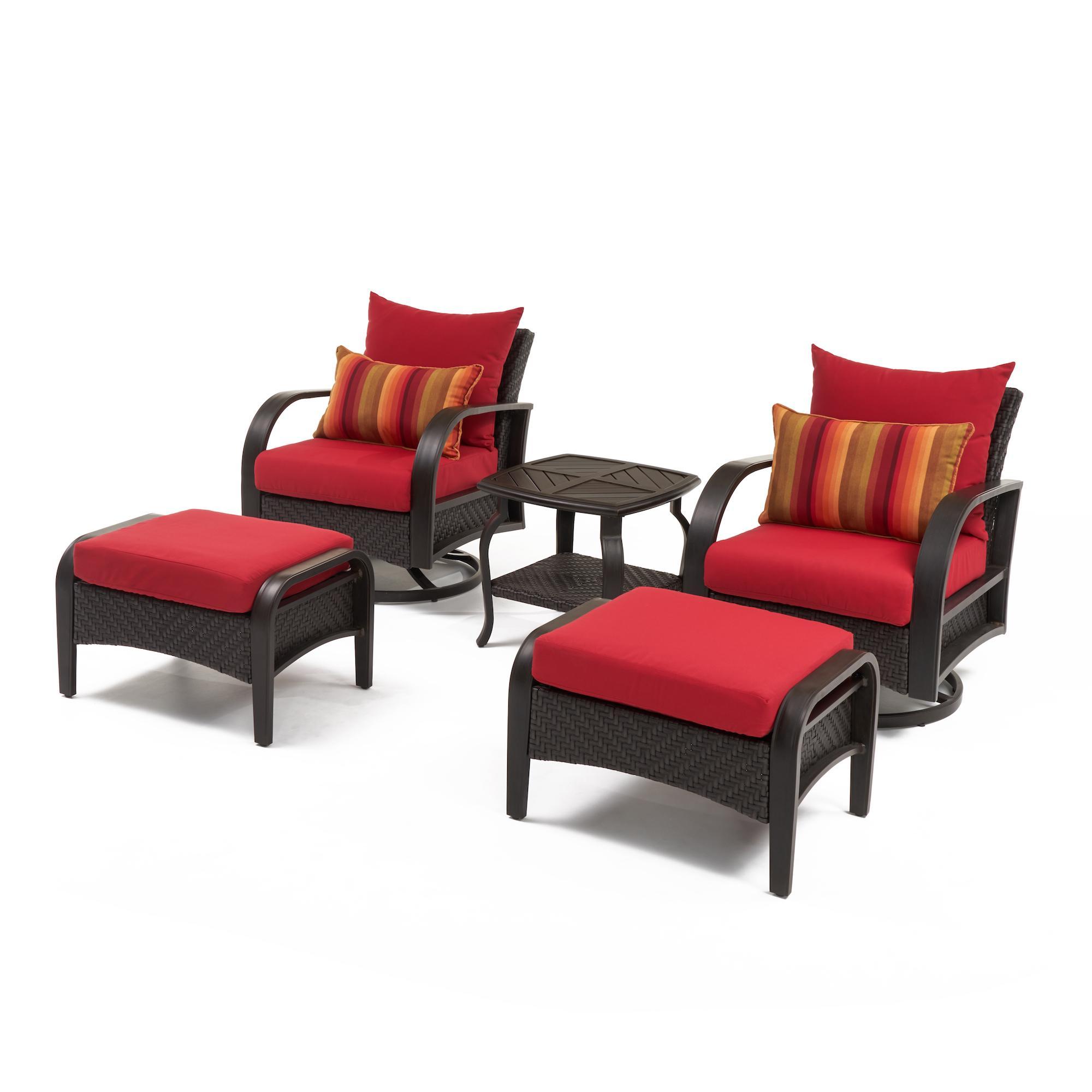 Awe Inspiring Barcelo 5Pc Motion Club Chair Ottoman Set Spa Blue Cjindustries Chair Design For Home Cjindustriesco