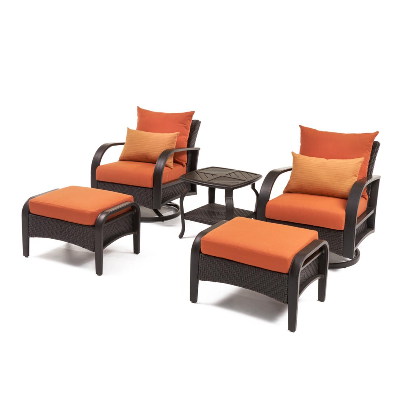 Barcelo™ 5pc Motion Club & Ottoman Set - Tikka Orange