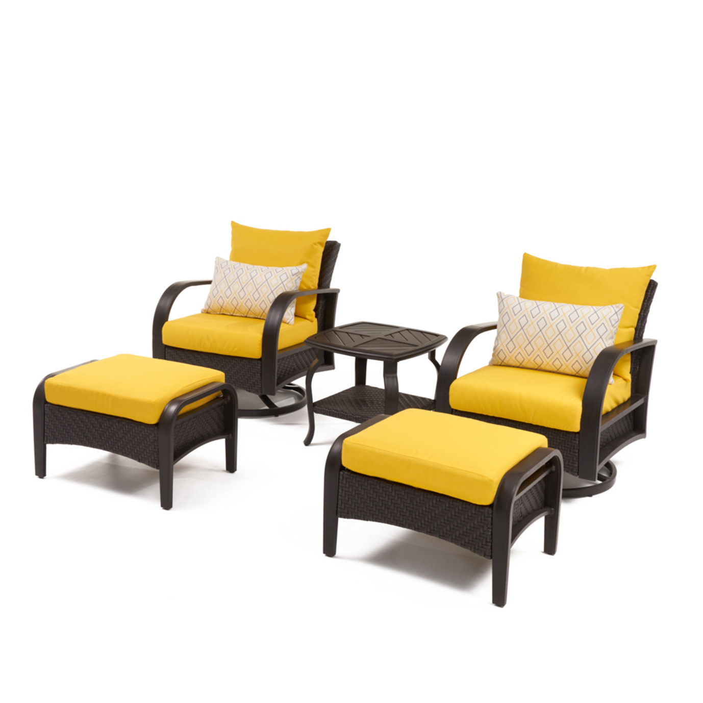 Barcelo™ 5pc Motion Club & Ottoman Set - Sunflower Yellow