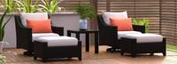 Deco™ 5 Piece Motion Club & Ottoman Set - Charcoal Gray