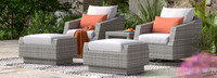 Cannes™ 5 Piece Motion Club Chair & Ottoman Set - Bliss Ink