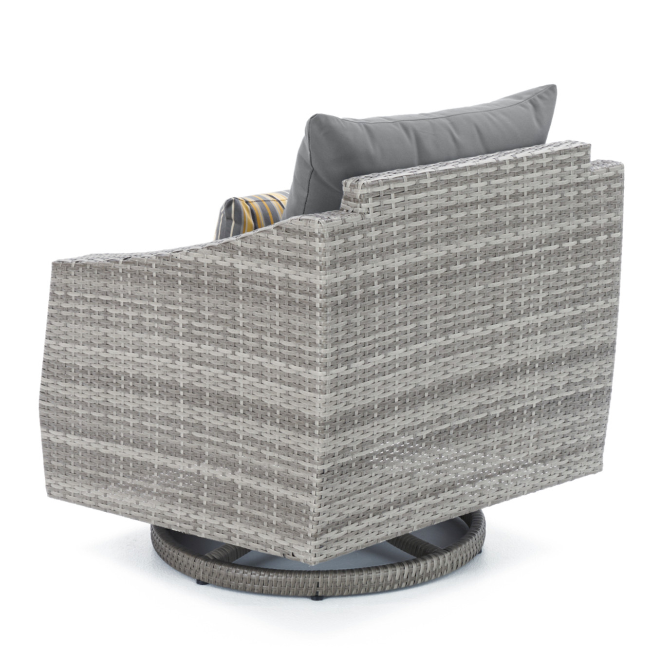 Cannes 5pc Motion Club Chair & Ottoman Set - Charcoal Gray