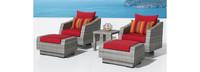 Cannes™ 5 Piece Motion Club Chair & Ottoman Set - Tikka Orange