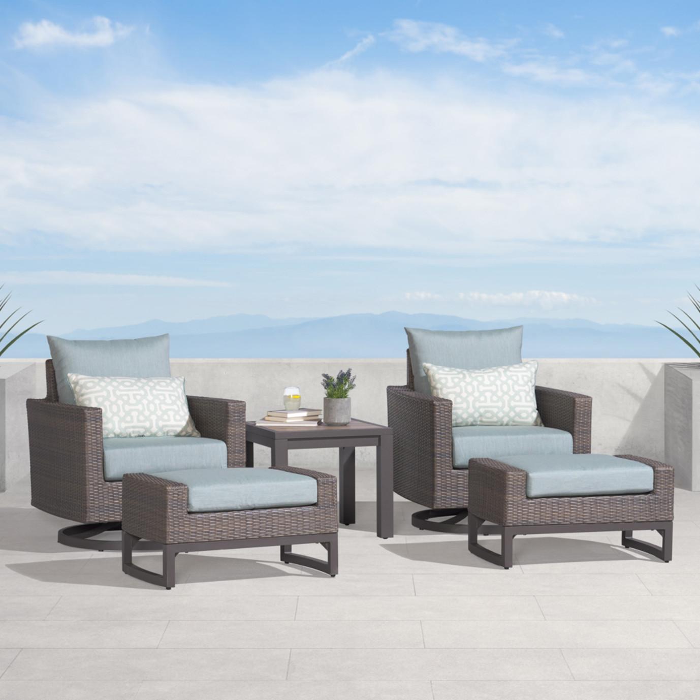Milea 5 Piece Club Seating Set - Mist Blue
