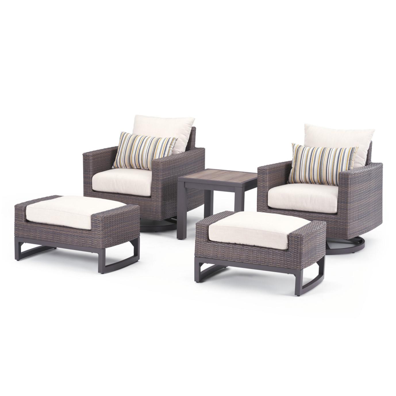Milea 5 Piece Club Seating Set - Natural Beige