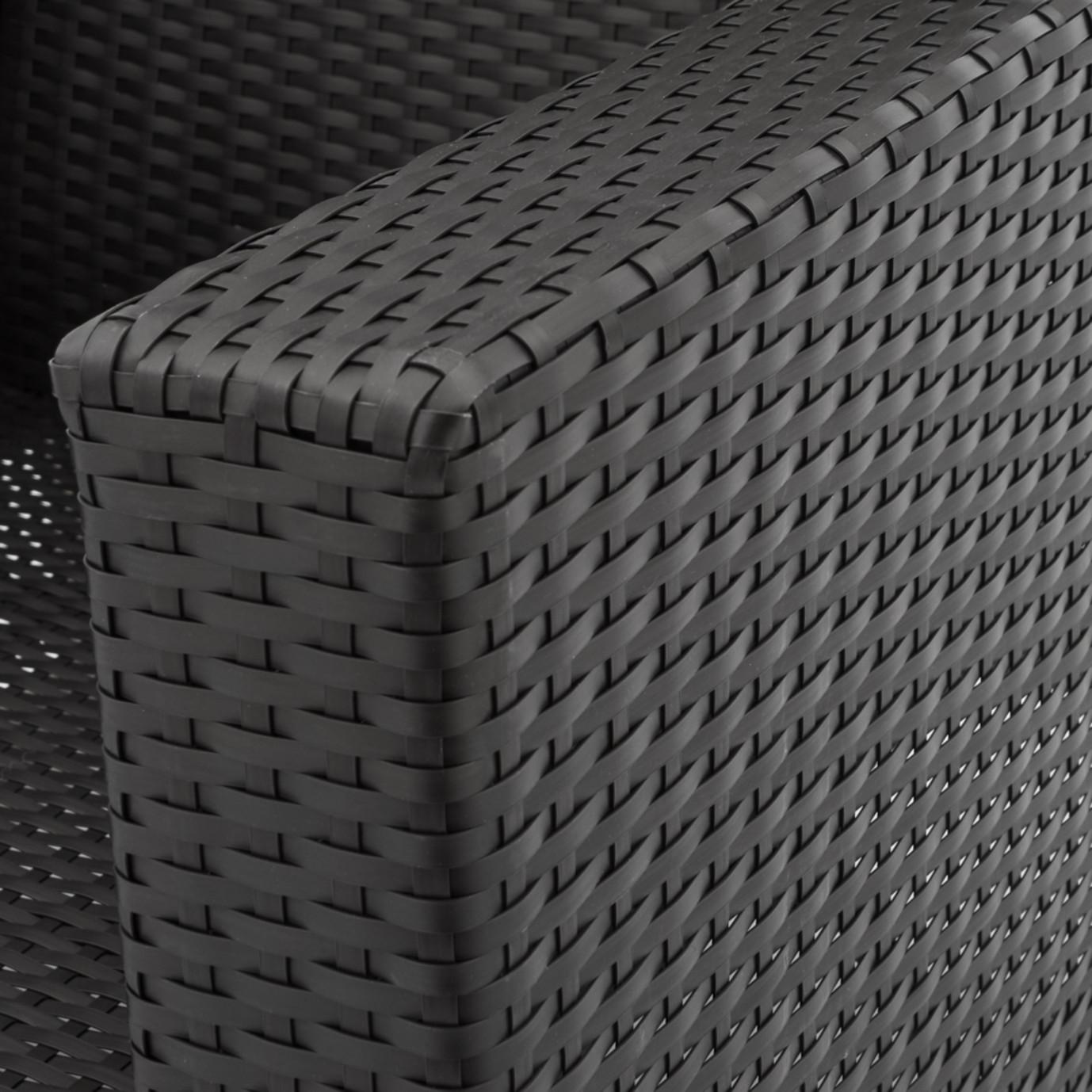 Milo™ Espresso 5 Piece Motion Club Set - Charcoal Gray
