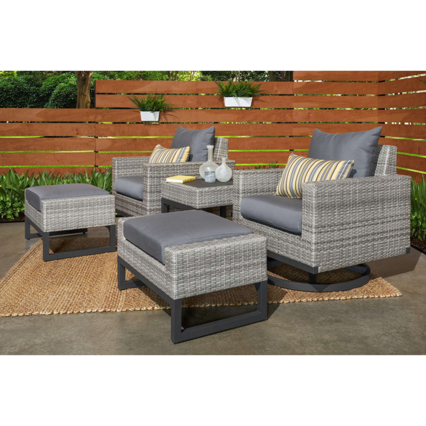 Milo™ Gray 5 Piece Motion Club Set - Charcoal Gray