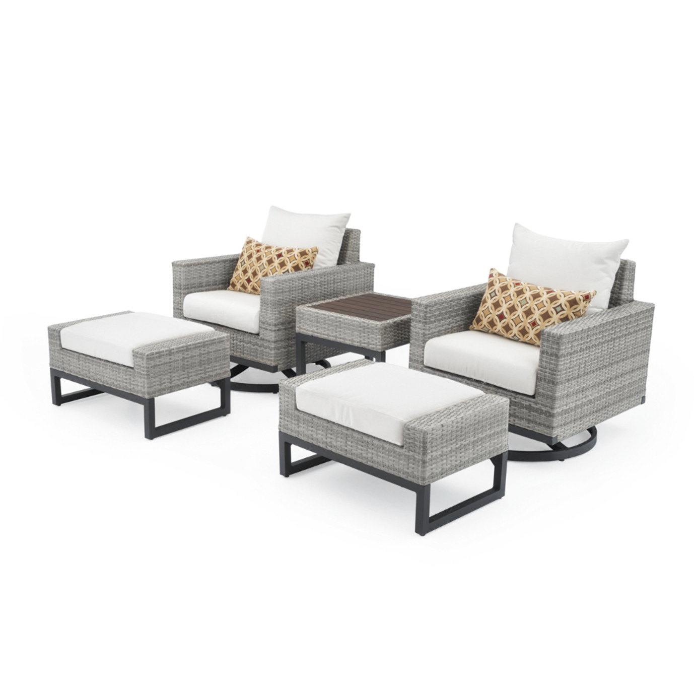 Milo™ Gray 5pc Motion Club Set - Moroccan Cream