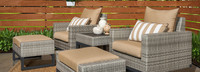 Milo™ Gray 5 Piece Motion Club Chair Set - Navy Blue