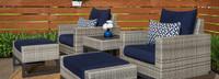 Milo™ Gray 5 Piece Motion Club Set - Spa Blue